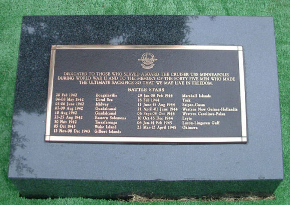 USS Minneapolis Marker in Punchbowl